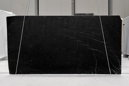 Nero Marquina marble slabs
